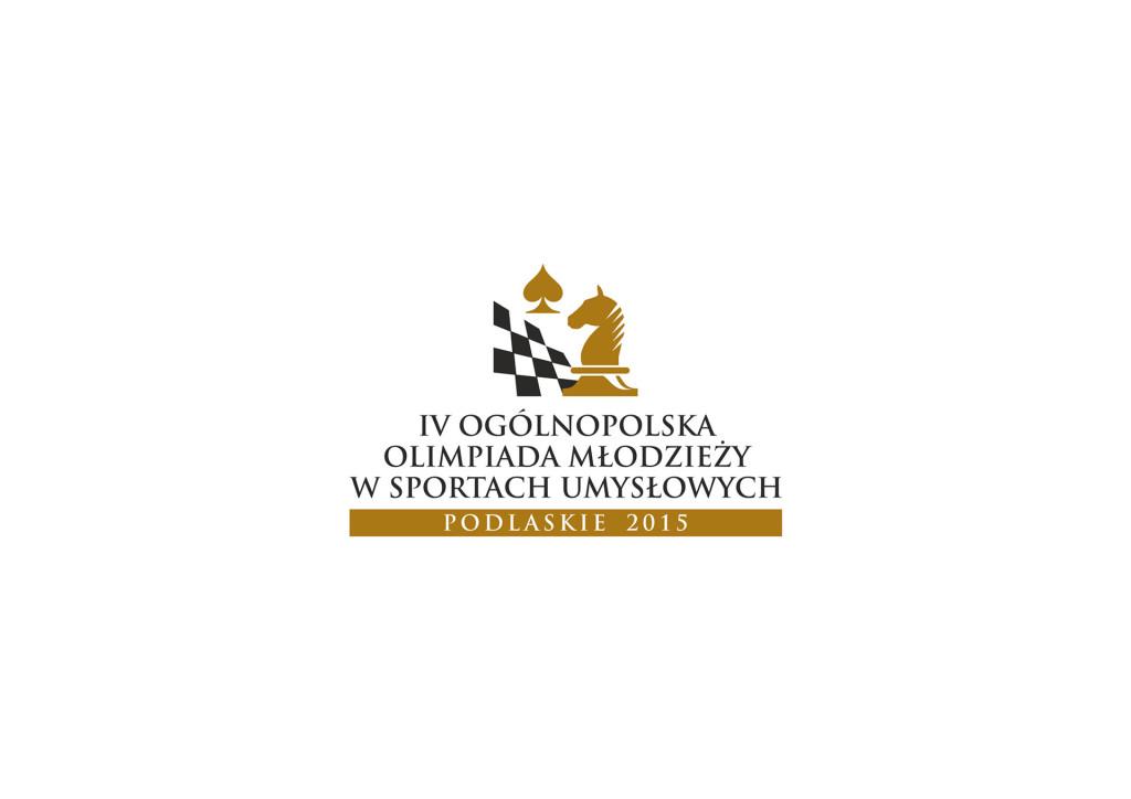 Projekt logo IV Ogólnopolskiej Olimpiady Młodzieży w Sportach Umysłowych